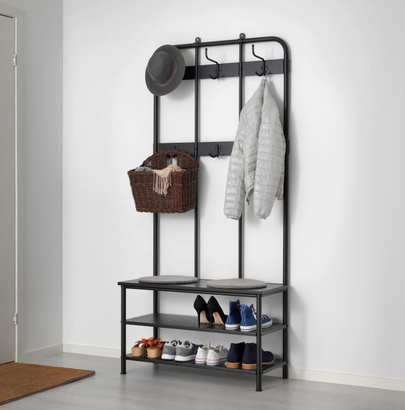 IKEA PINNIG ピンニグ コートラック 靴収納ベンチ付き